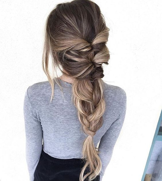 Twisted Pull Through Braid for Long Hair