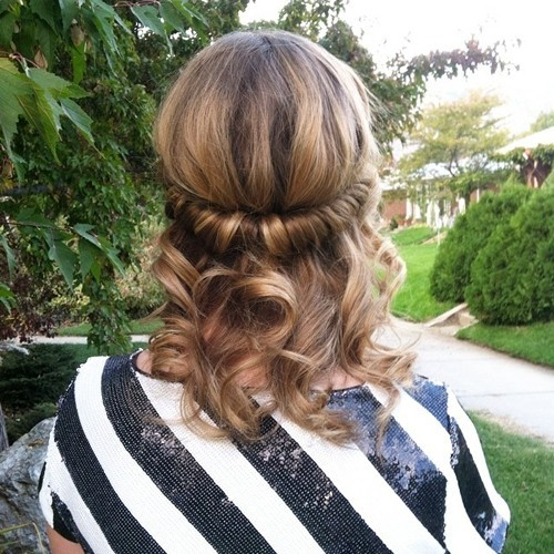 Rolled Half Updo With Curls 18 Elegant Hairstyles For Prom