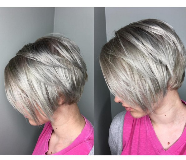 20 Trendy Stacked Hairstyles for Short Hair: Practicality Short Hair Cuts