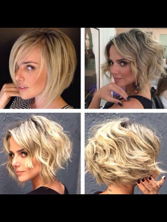 Super Cute Ways to Curl Your Bob, Curly Bob Hair Cuts Designs