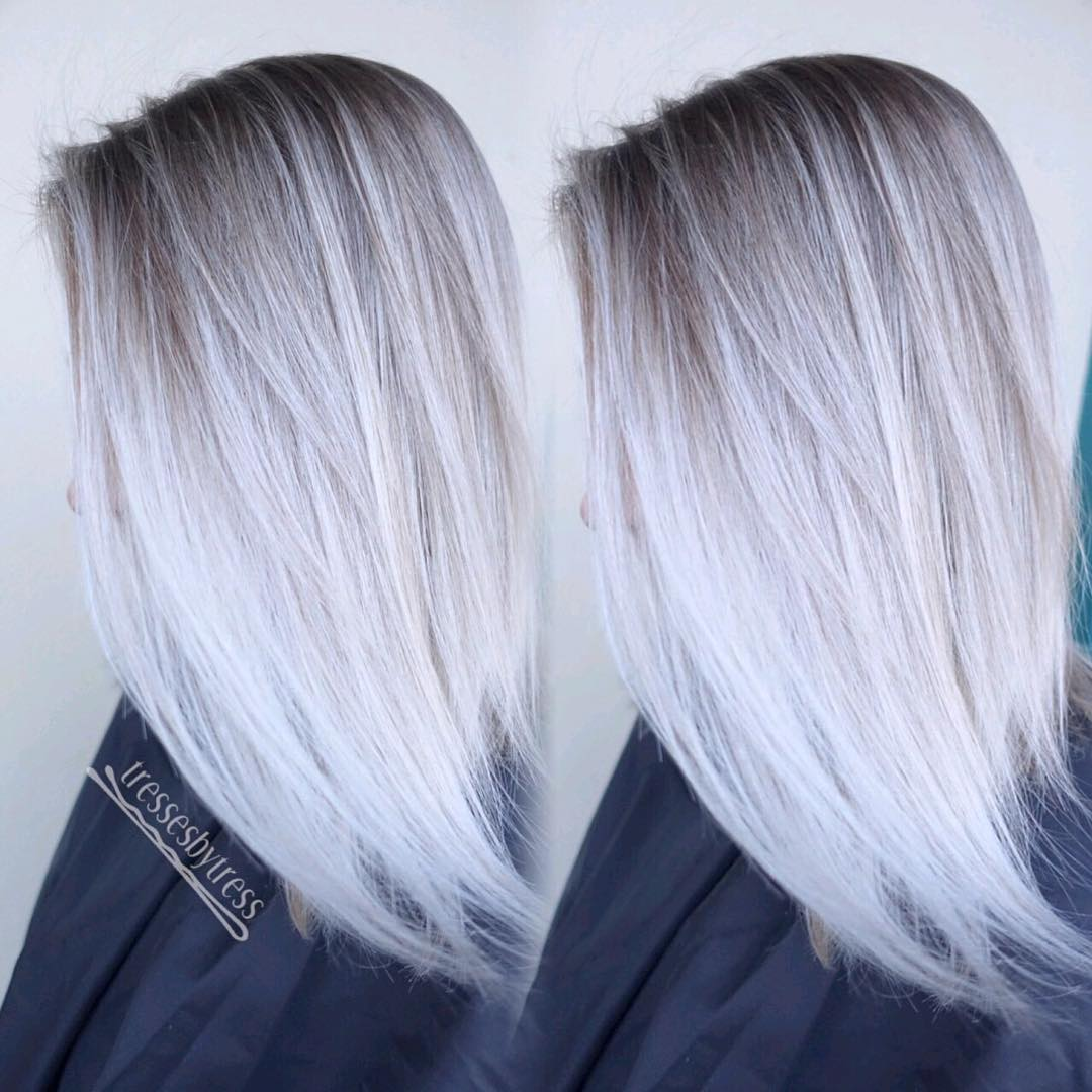 Silver and platinum blonde hair color solved