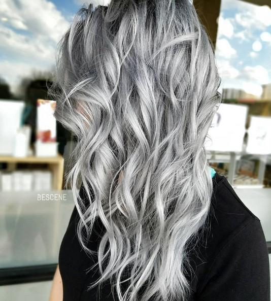 18 Winter Haarfarbe Ideen