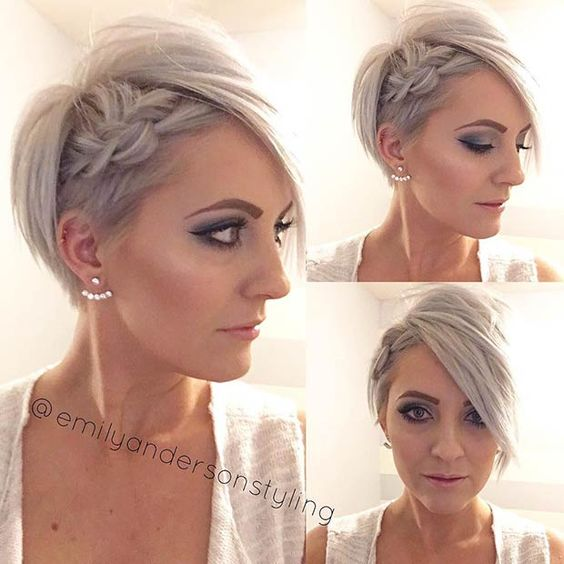 Hottest Prom Hairstyles for Short Hair - Braided Hairstyle