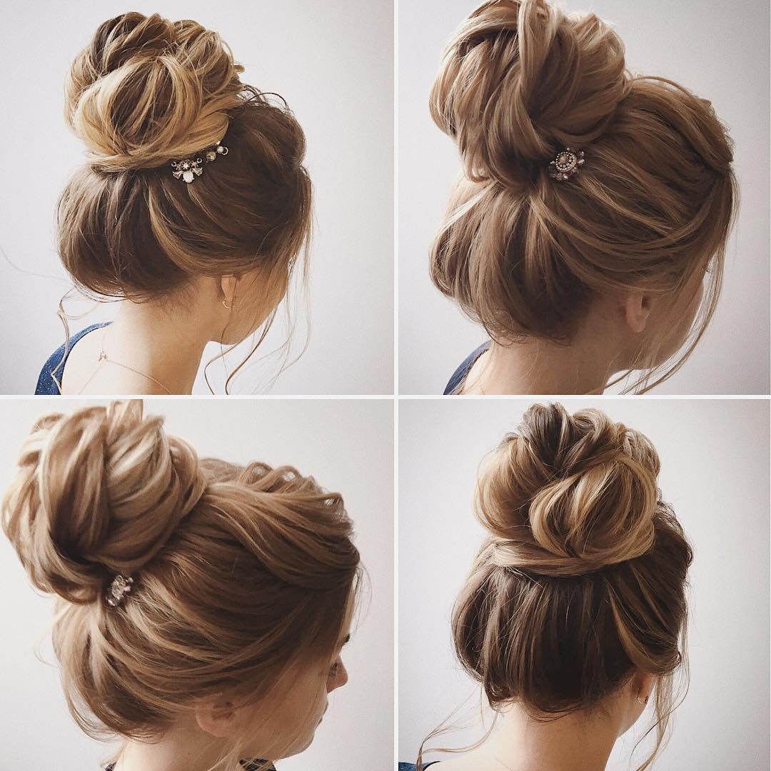Easy and Pretty Chignon Buns Hairstyles You\'ll Love to Try