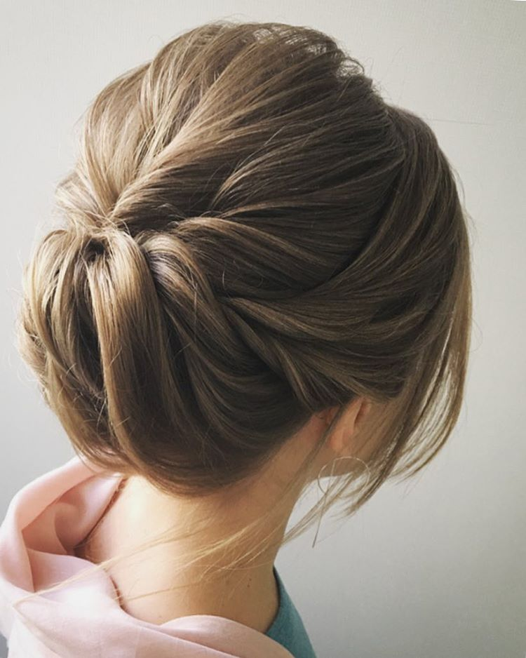 Easy and pretty chignon buns hairstyles you ll love to try - Chignon simple mariage ...