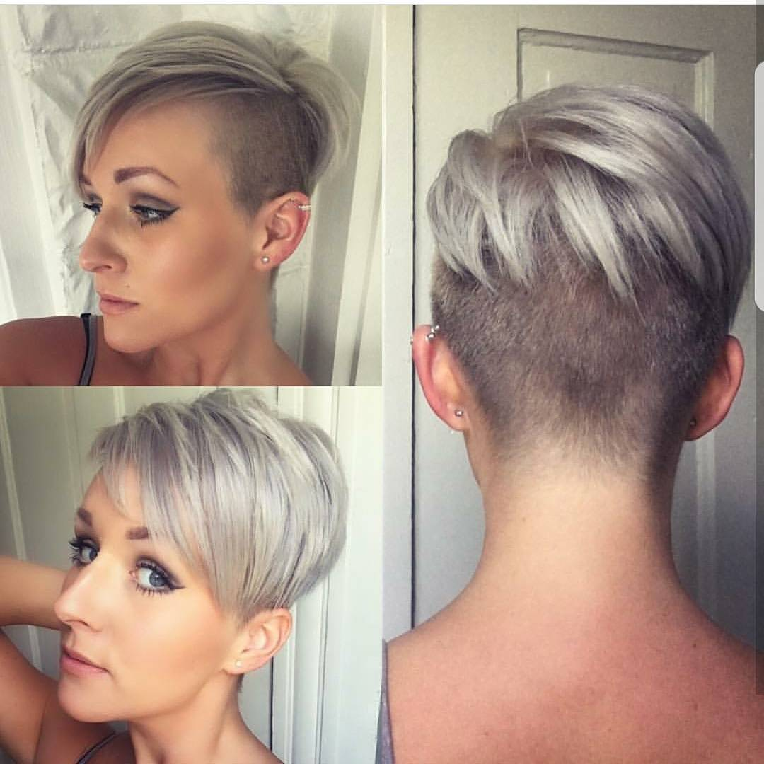 Edgy Easy Care Eton Crop In Silvery Blonde Latest Short Haircuts For Fine Hair
