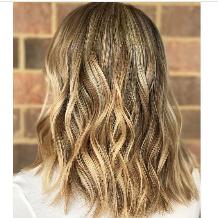 Stylish Wavy Lob Hair Styles Shoulder Length Wavy Haircuts For
