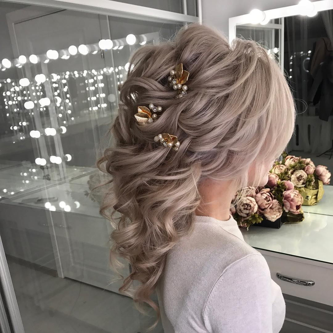 lavish wedding hairstyles for long hair wedding