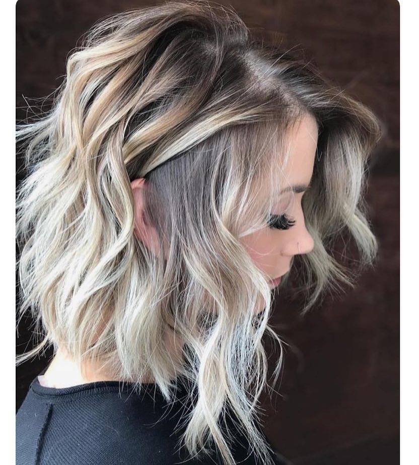 10 Wavy Shoulder Length Hairstyles With Edge 2018 Women Medium Hair
