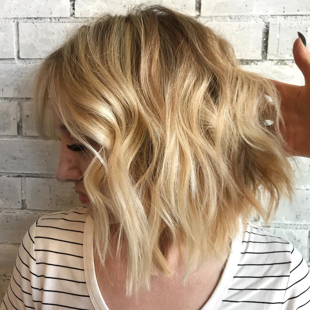 Best Wavy Shoulder Length Hairstyles Medium Haircut Ideas For Women