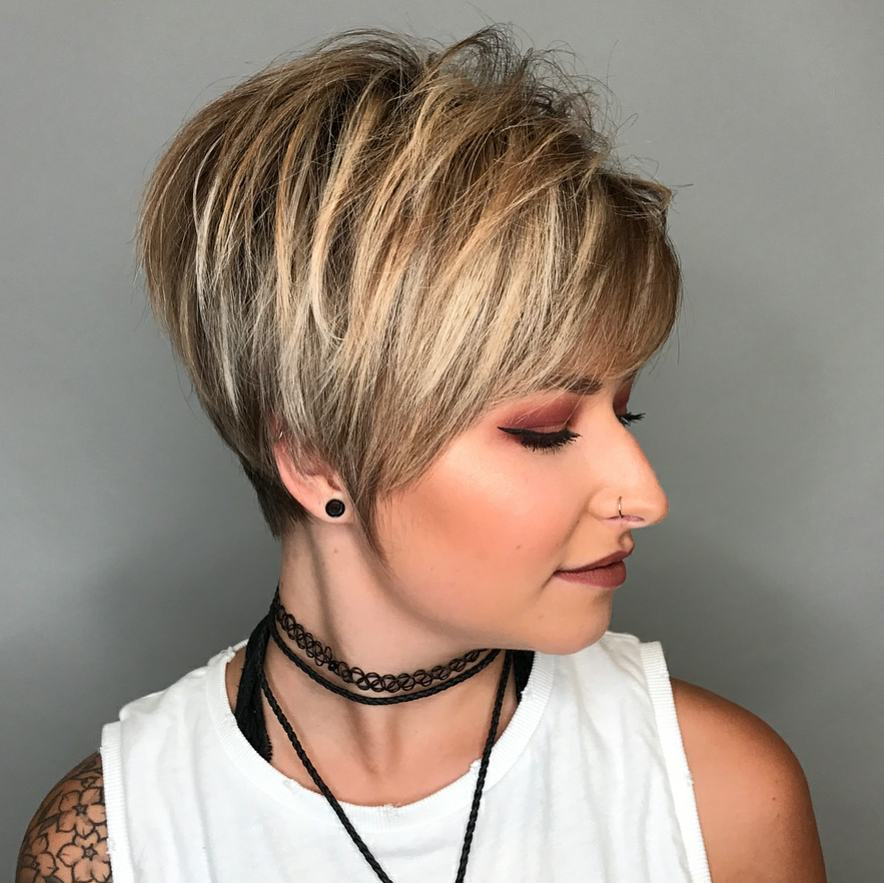 Women Short Haircut For Thick Hair Hairstyle Trends