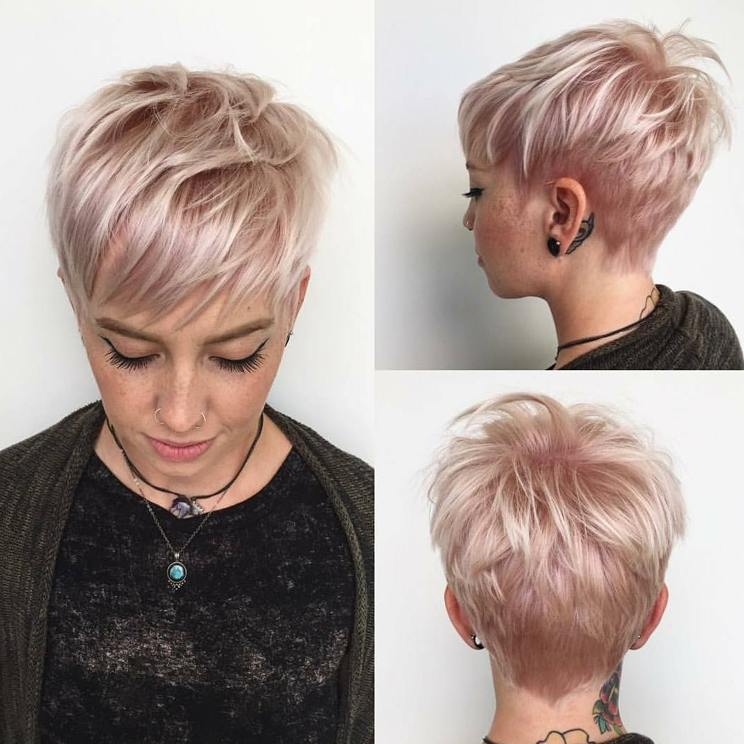 Celebrity short hairstyles fall 2019 champagne