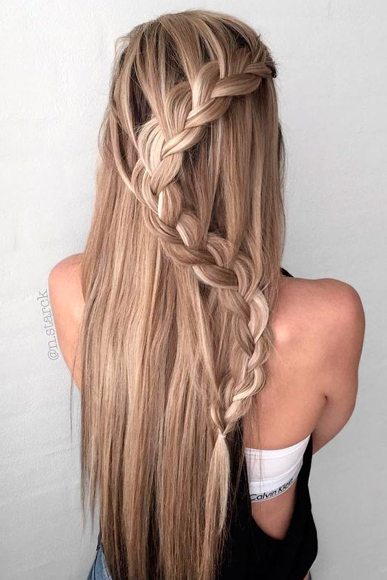 Celebrity hairstyle long hair