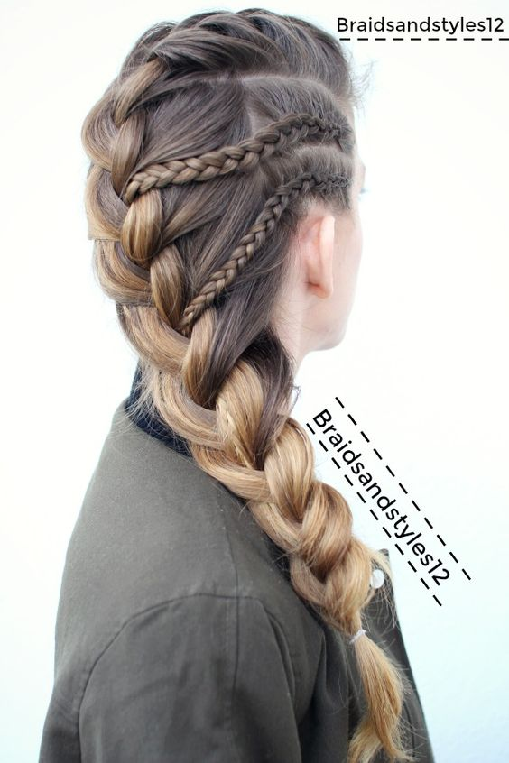 Easy, Stylish Braided Hairstyles for Long Hair , Inspired Creative Braided Hairstyle