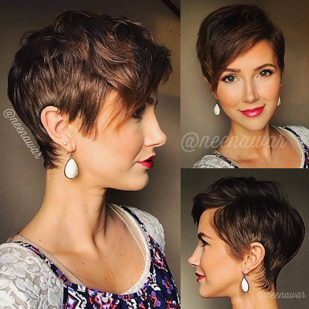 Short Brown Hairstyles and Haircuts, Latest Women Haircut for Short Hair