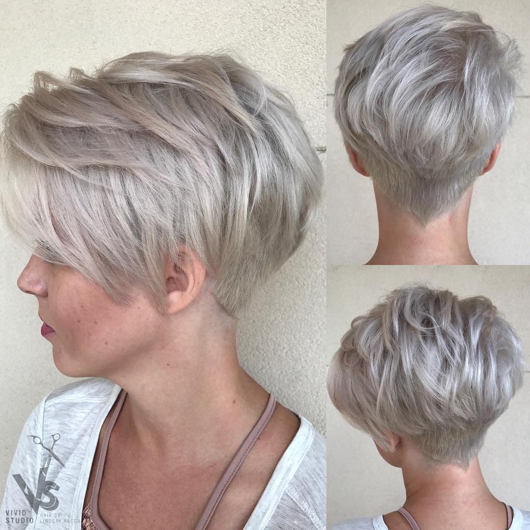 Trendy Short Silver Hairstyles - Hairstyles By Unixcode