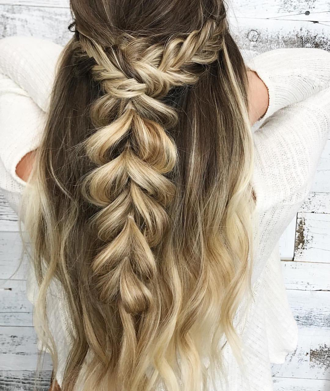 Braid Ponytail Hairstyles for Long Hair, Ponytail Long Hairstyle Ideas
