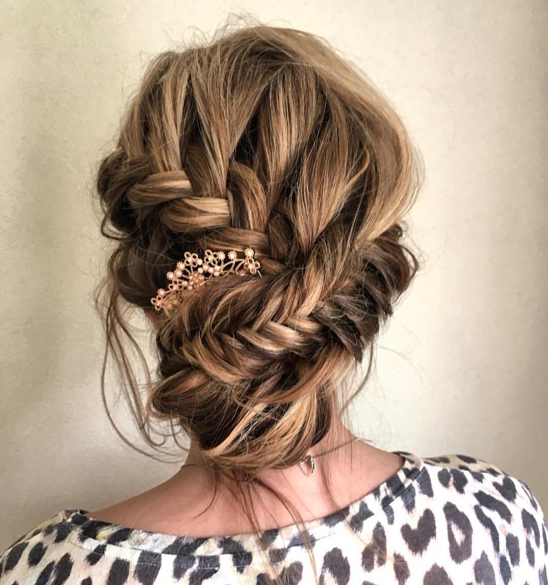 Trendy Updos for Medium Length Hair, Updo Hairstyle Ideas