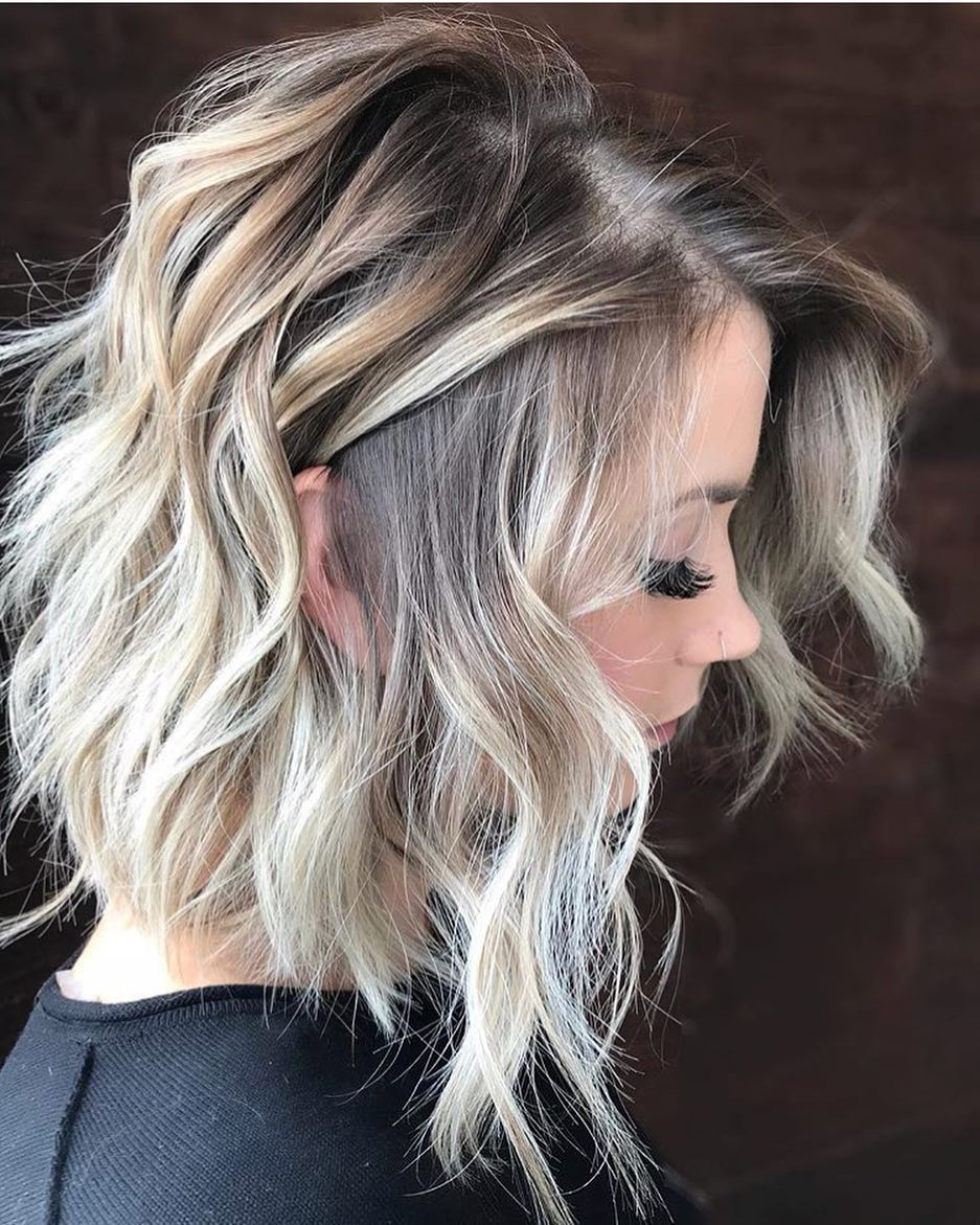 Most Popular Wavy Haircuts for Medium Length Hair, Medium Hairstyles 2018
