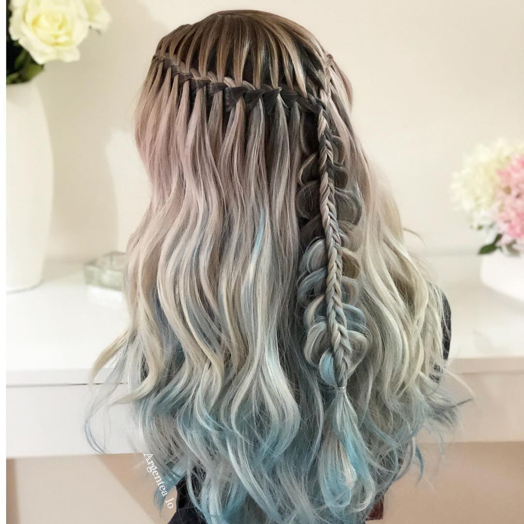 Messy Braided Hairstyle with Long Hair, Women Long Hairstyles for Summer