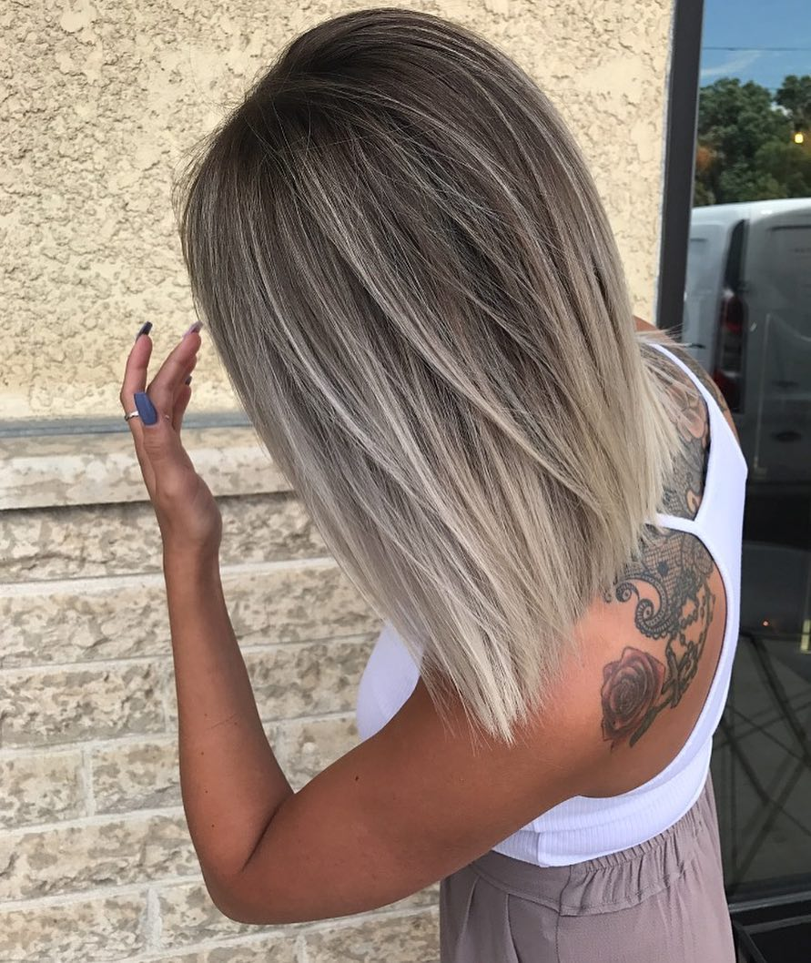 Pretty Balayage Ombre Hair Styles For Shoulder Length Hair Medium