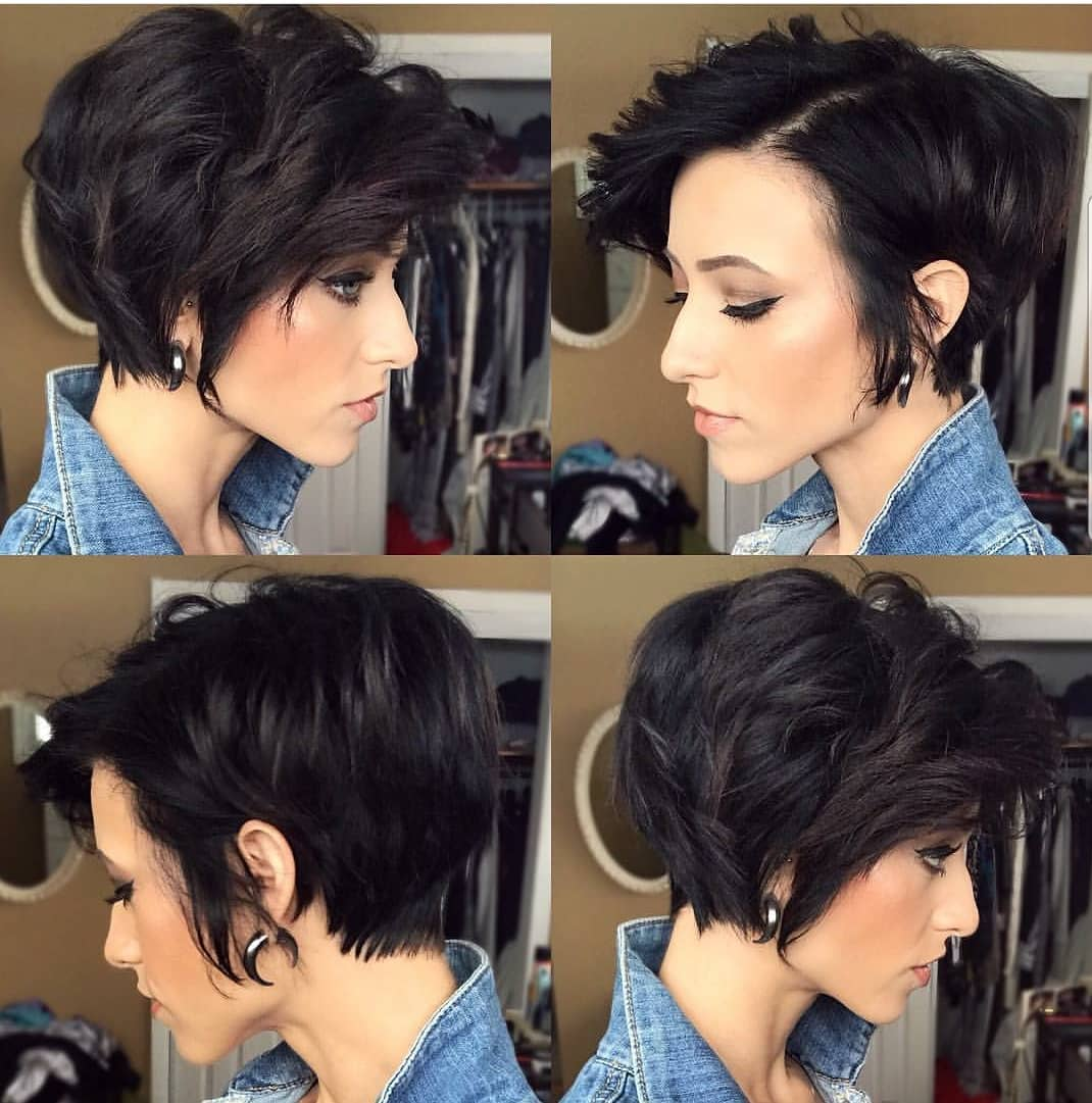 Stylish Asymmetrical Short Pixie Haircuts And Hairstyles Women