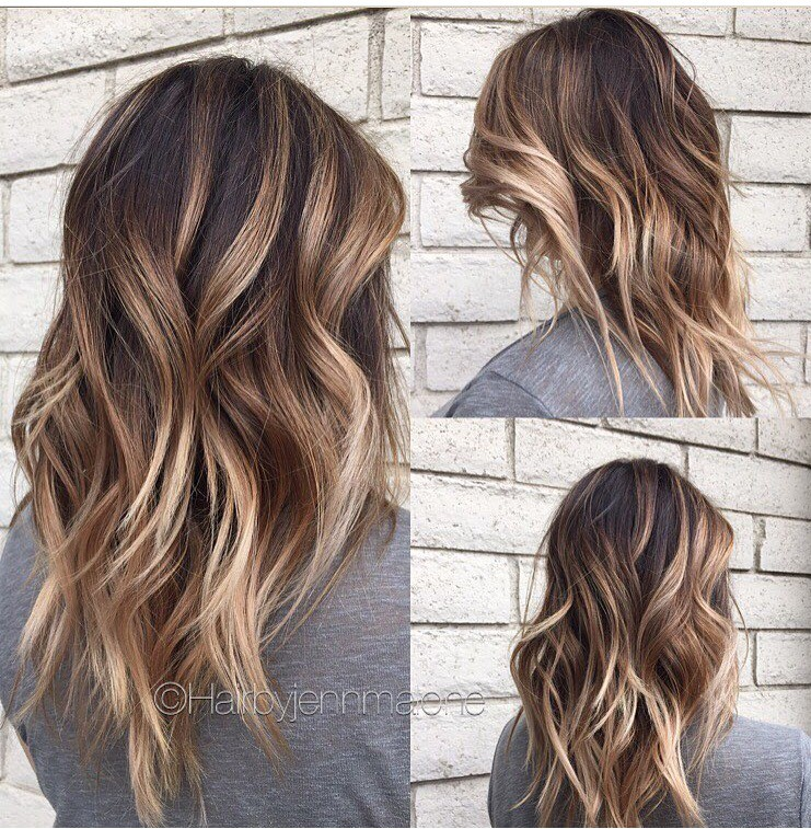 Best Brown Balayage Hair Designs for Medium Length Hair, Medium Hairstyle Color