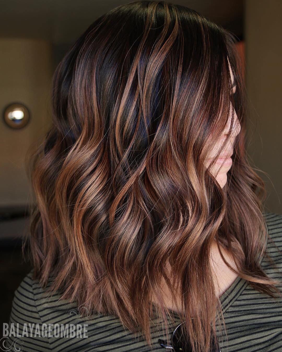 Best Brown Balayage Hair Designs for Medium Length Hair, Medium Hairstyle Color