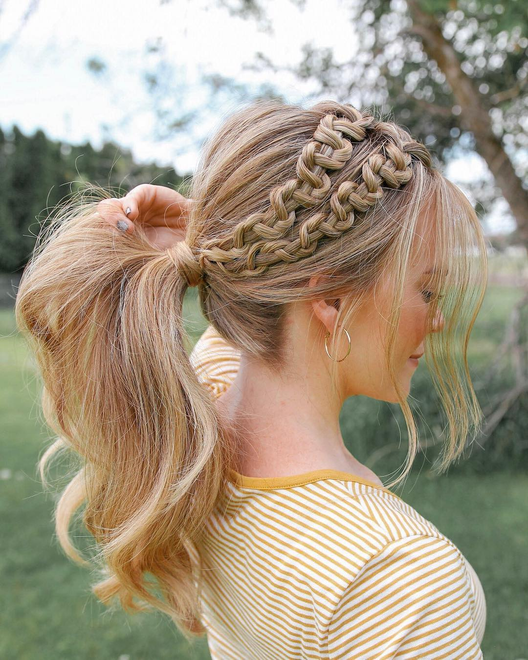 10 Creative Ponytail Hairstyles for Long Hair, Summer Hairstyle Ideas 2019