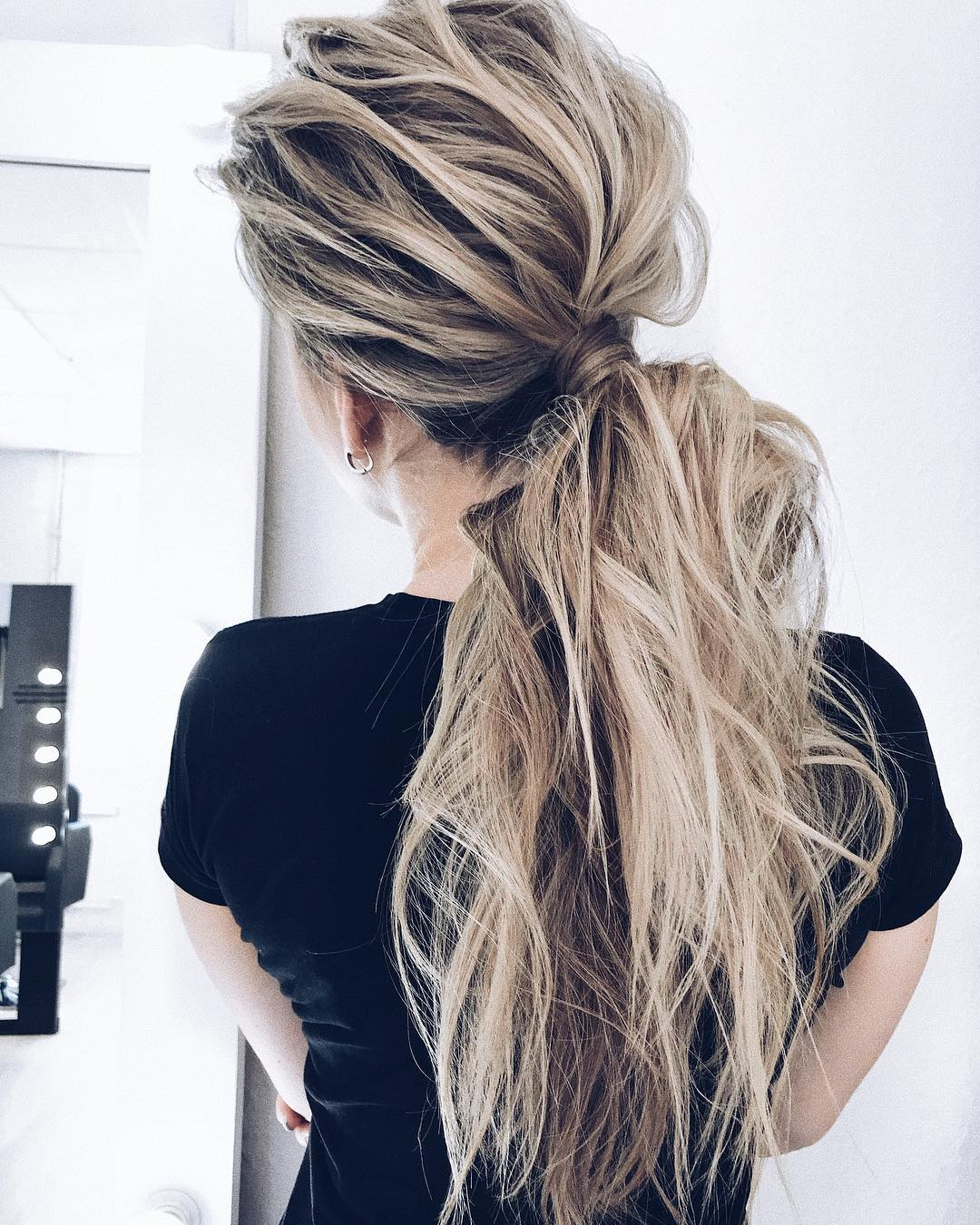 12 Creative Ponytail Hairstyles for Long Hair, Summer Hairstyle