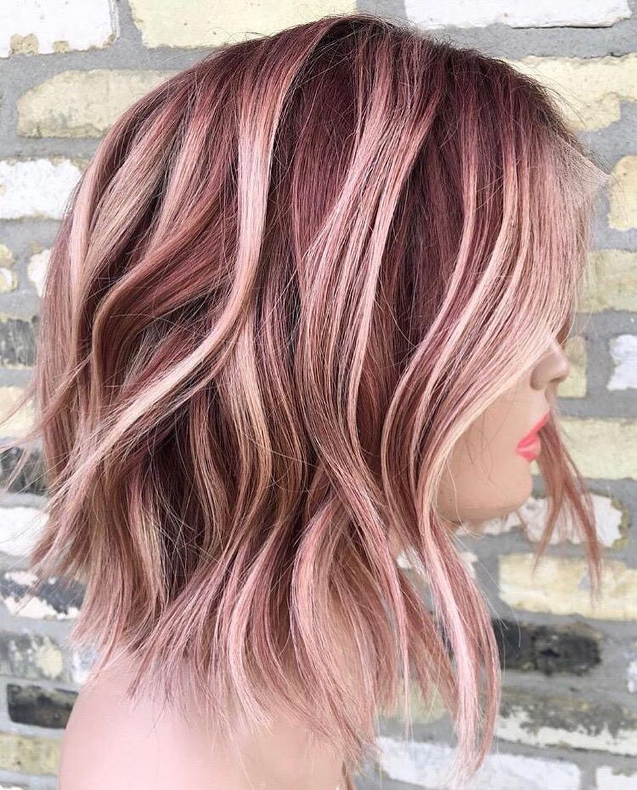 Medium Hair Color Ideas, Shoulder Length Hairstyle for Female in 2019
