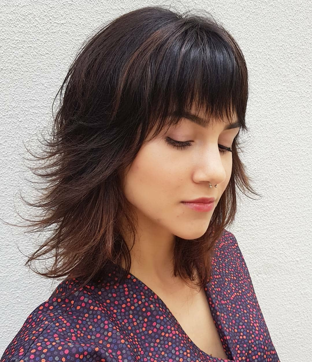 Layered Hairstyles With Bangs 2019 49