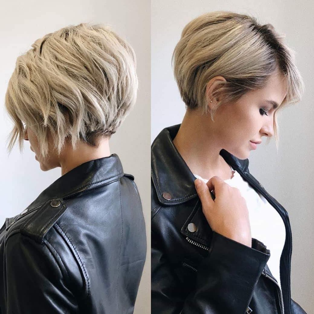 Top Hairstyles 2019 Stylish Short Hairstyles For Thick Hair Women Short Short Hairstyles For Thick Hair Thick Hair Styles Short Hair Styles