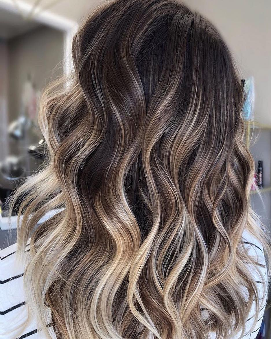 10 Medium to Long Hair Styles - Ombre Balayage Hairstyles ...