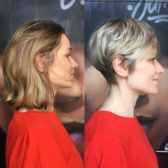 Long Hair to Short Hair Before and After, Short Hairstyles for Women