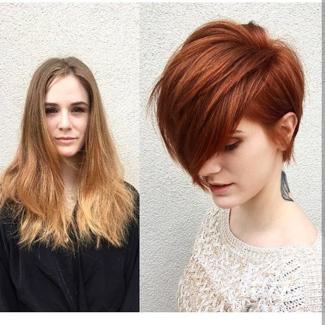 12 Cute Short Haircuts, Make-overs: Long Hair to Short Hair Before