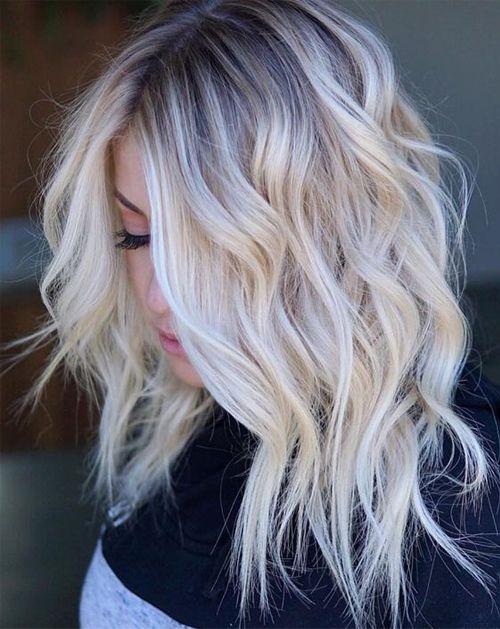 Flattering Shoulder Length Wavy Hairstyles for Women, Female Medium Haircuts