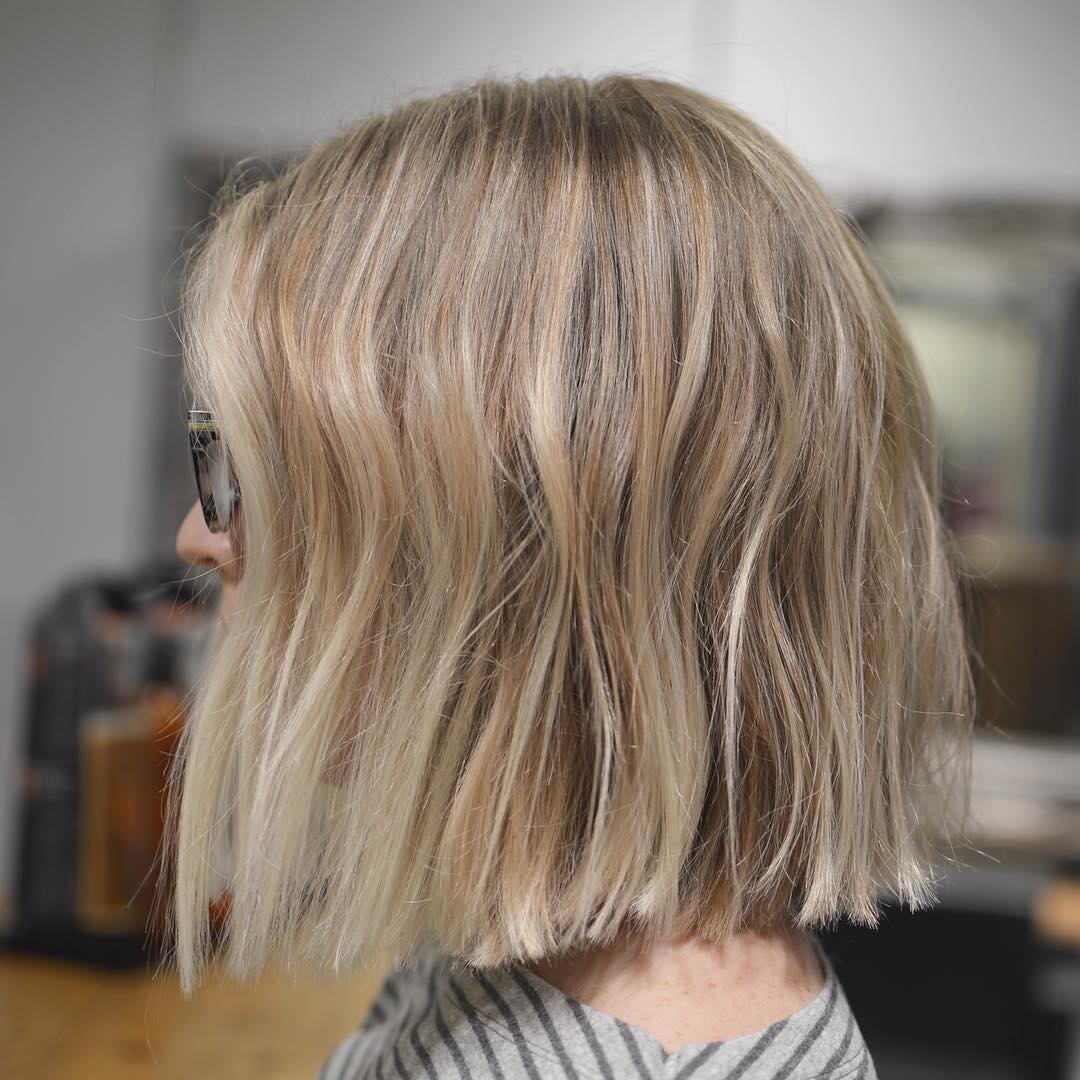 Simple Blunt Bob Hairstyles, Cool Short Haircut for Female