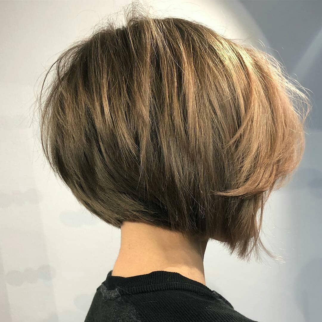 Simple Short Straight Bob Haircut - Women Short Hairstyle for Thick Hair