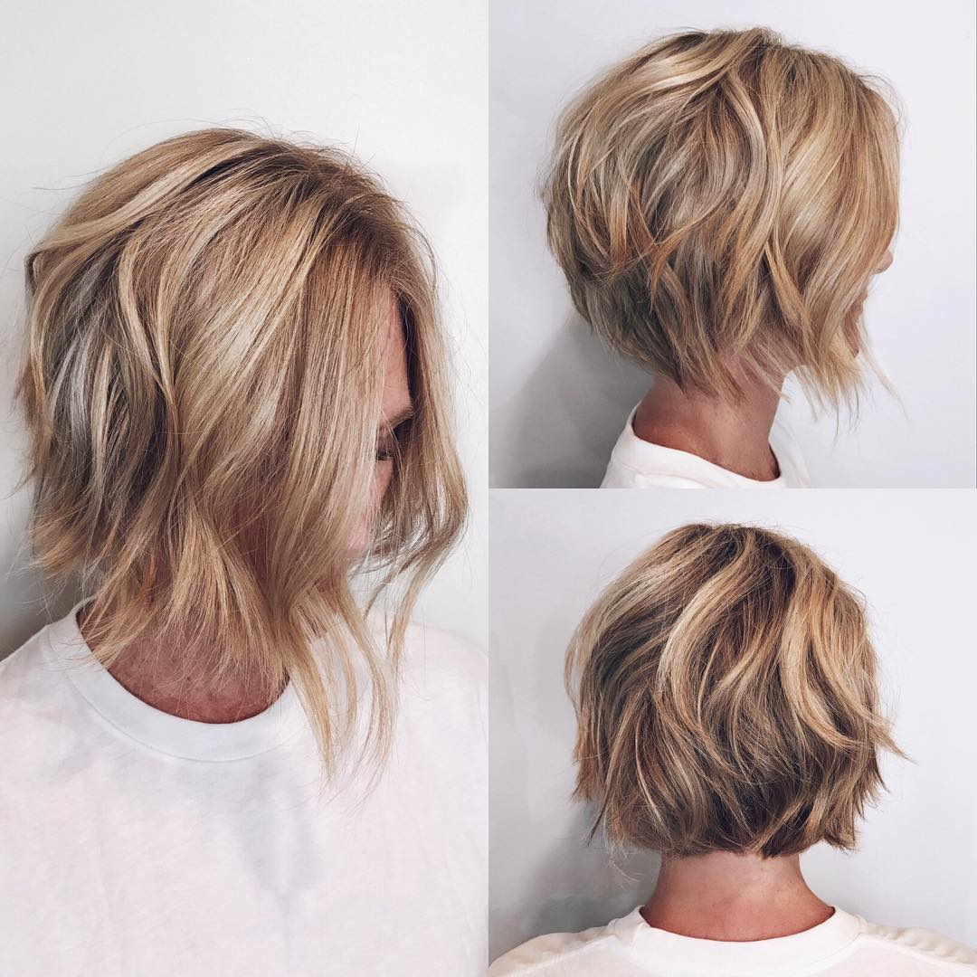 10 Easy Wavy Bob Hairstyles With Balayage 2019 Female