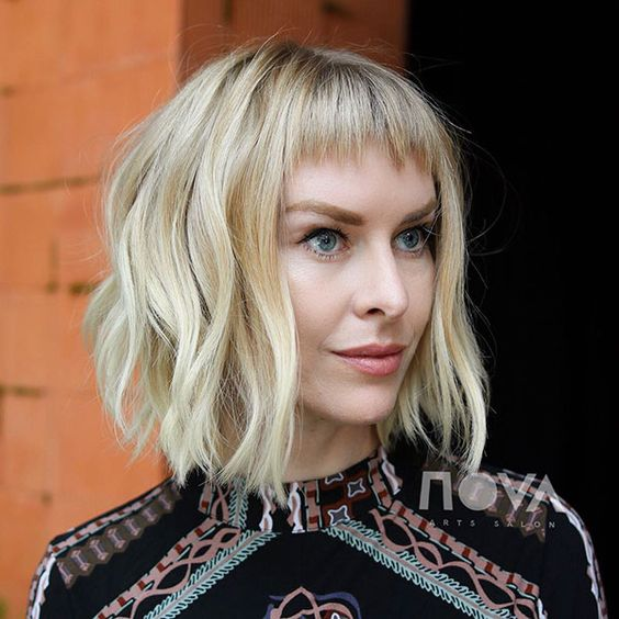 "Women Hairstyles for Short ""Baby"" Bangs - Haircut with Bangs Ideas"
