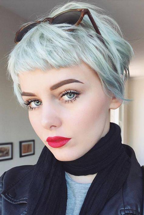"Women Hairstyles for Short ""Baby"" Bangs - 2021 Haircut ..."