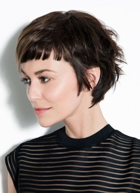 Women Hairstyles For Short Baby Bangs 2020 Haircut With
