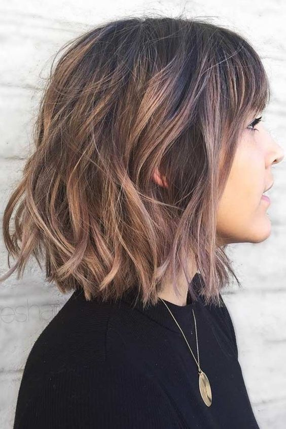 10 Cute Short Haircuts With Subtle Balayage Short