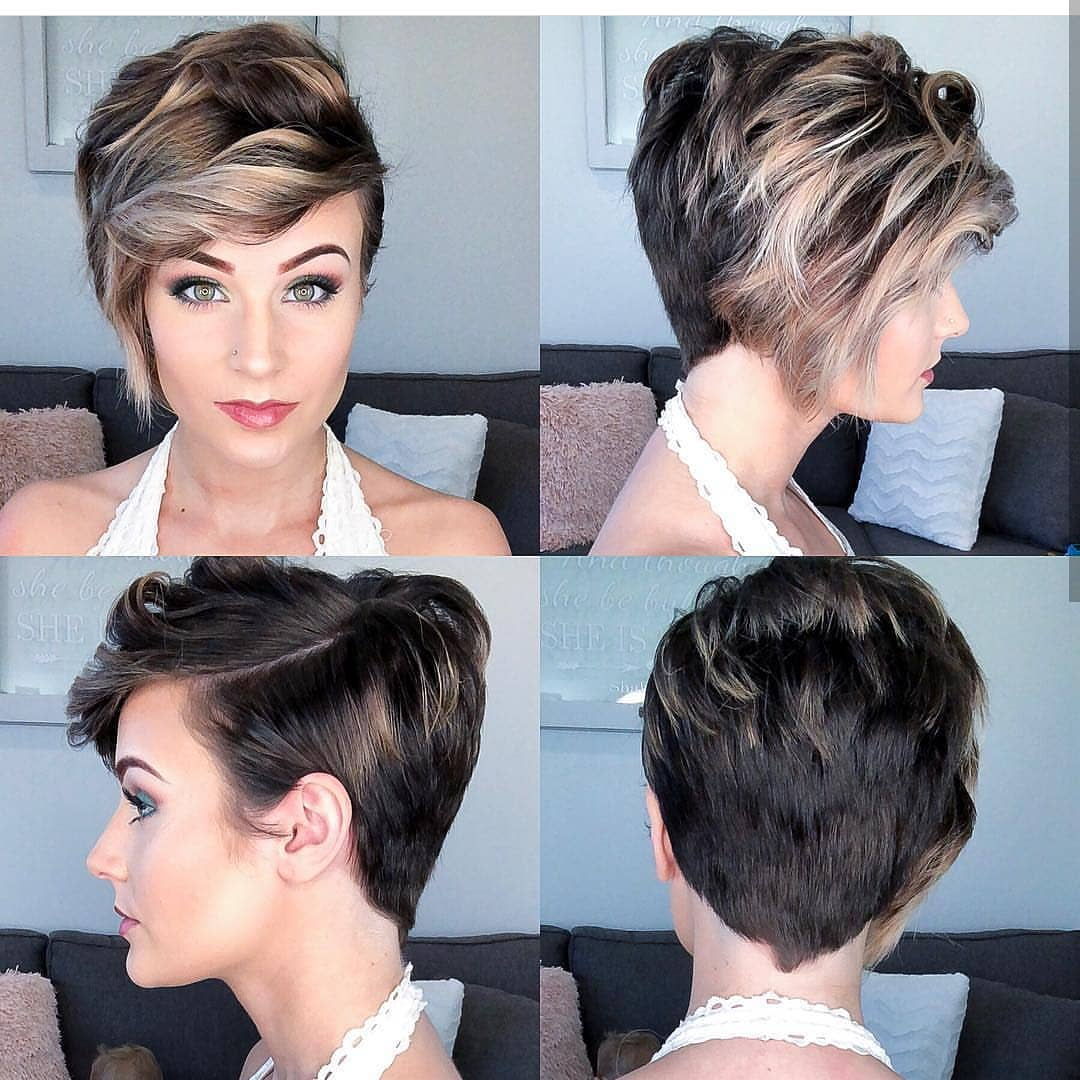 Easy Everyday Hairstyle for Short Hair - Women Pixie Haircut Ideas