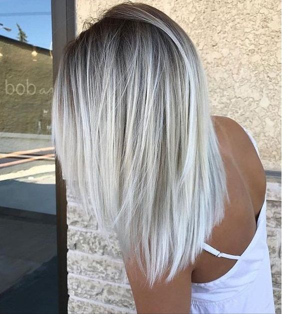 Black blonde balayage ombre