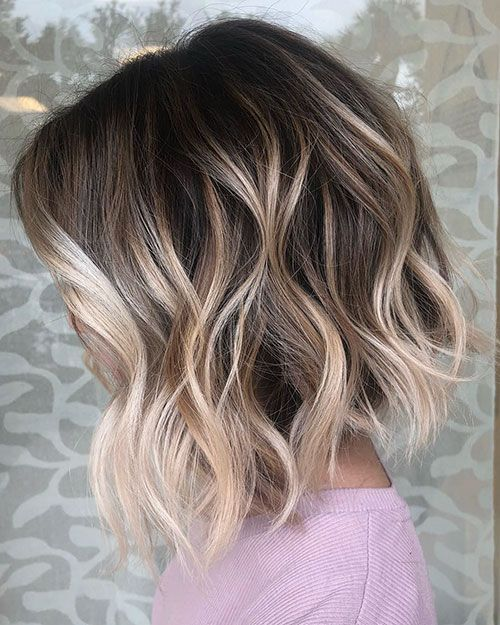 10 Stylish Short Wavy Hairstyles With Balayage Short