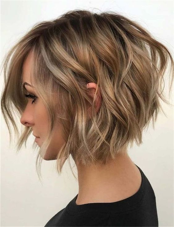 10 Balayage Short Hairstyles with Tons of Texture Short Hair Color Ideas 2020