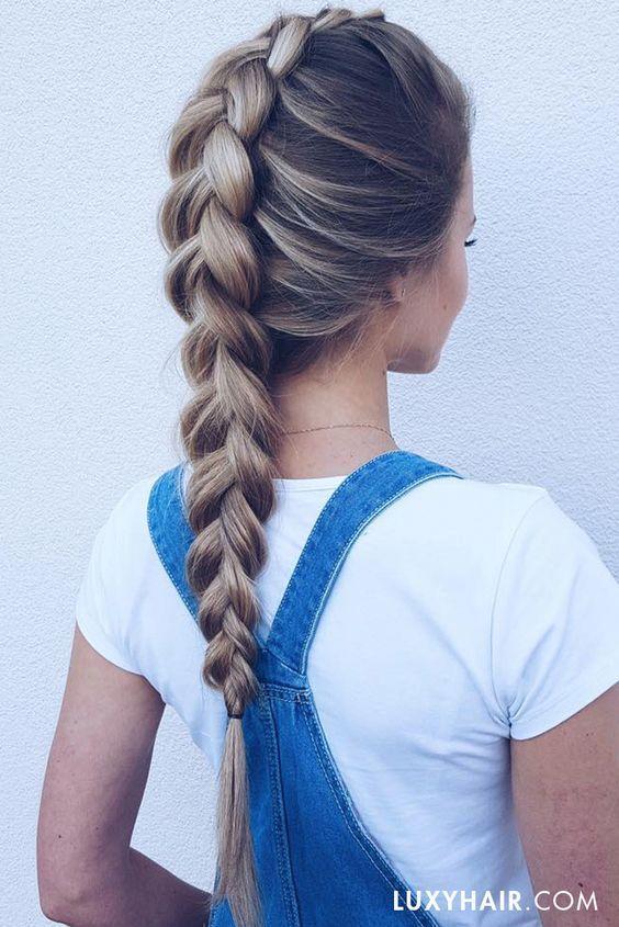 Cute Unique Braid Ponytail Hair Styles for Long Hair - Summer Long Hairstyle Ideas