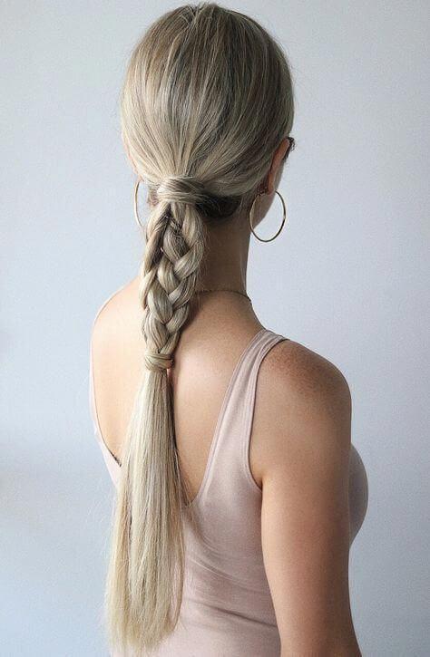 Nette einzigartige geflochtene Pferdeschwanz-Frisuren für langes Haar - Sommer lange Frisur-Ideen
